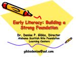 early literacy building a strong foundation