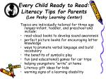 every child ready to read literacy tips for parents lee pesky learning center