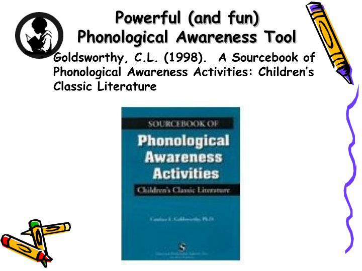 Powerful (and fun) Phonological Awareness Tool