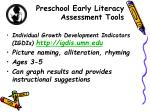 preschool early literacy assessment tools1