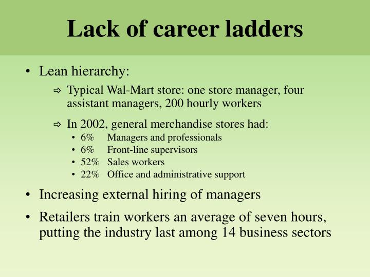Lack of career ladders