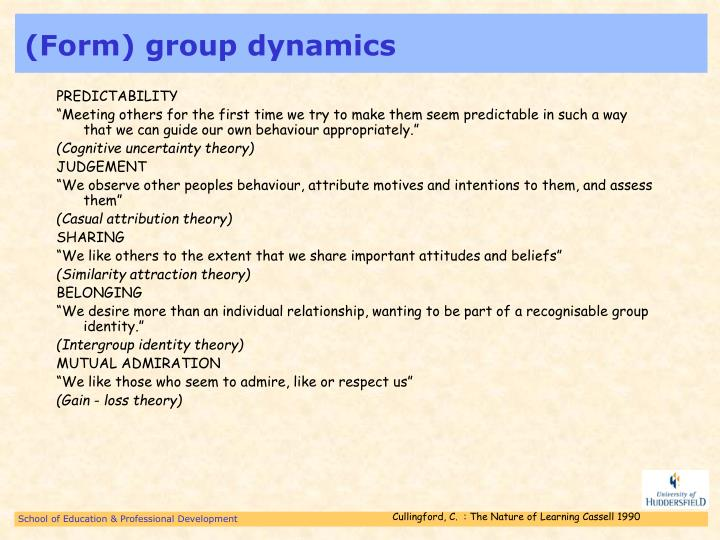 (Form) group dynamics