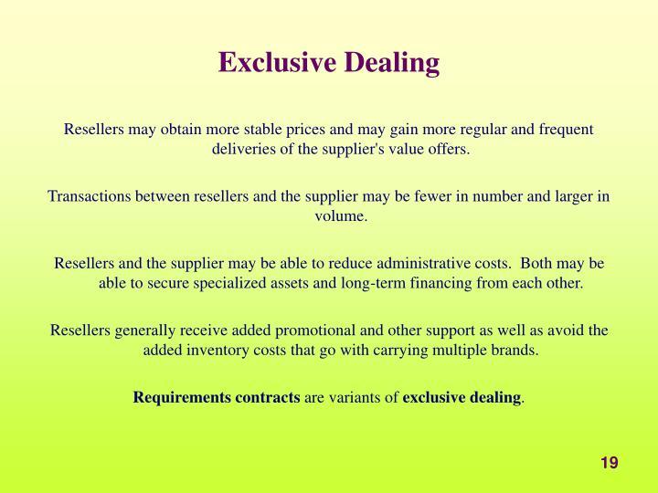 Exclusive Dealing