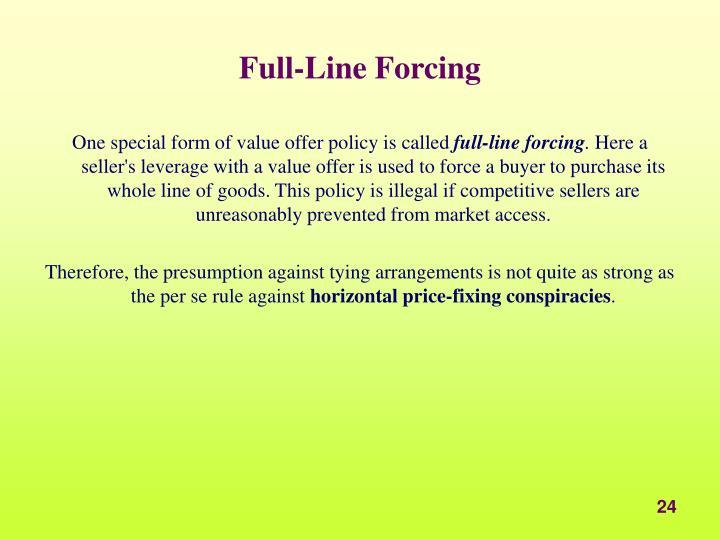 Full-Line Forcing