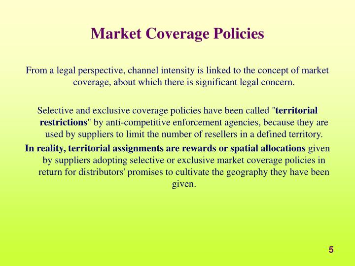 Market Coverage Policies