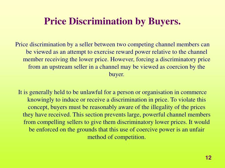 Price Discrimination by Buyers.
