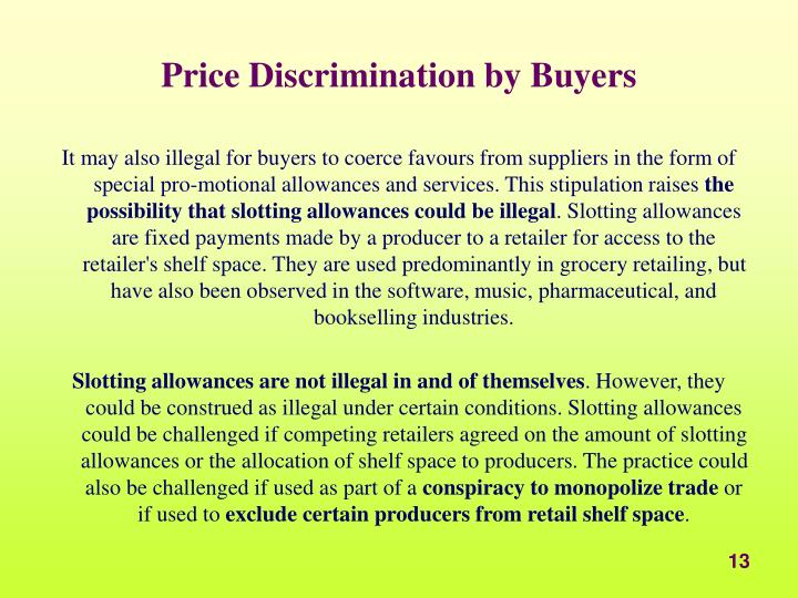 Price Discrimination by Buyers