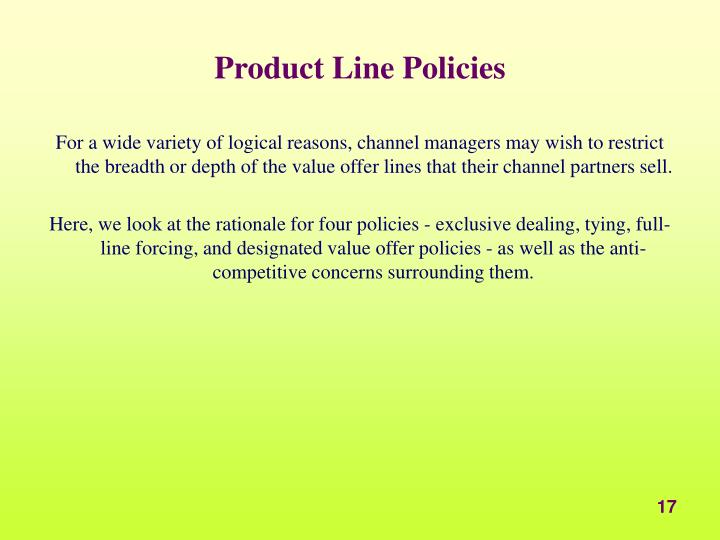 Product Line Policies