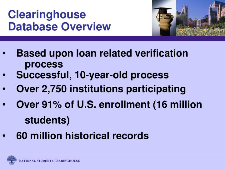 Based upon loan related verification 	process