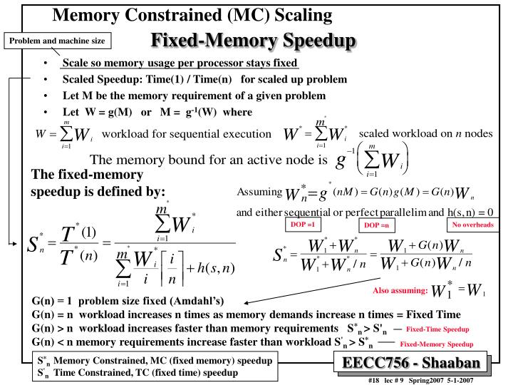 Memory Constrained (MC) Scaling