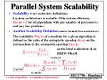 parallel system scalability