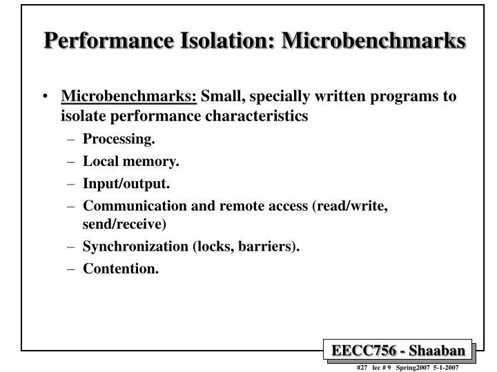 Performance Isolation: Microbenchmarks