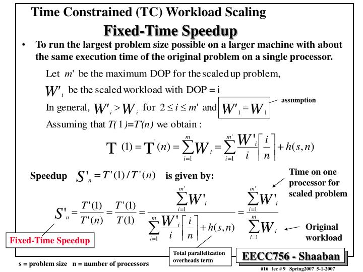 Time Constrained (TC) Workload Scaling