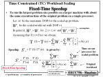 time constrained tc workload scaling fixed time speedup