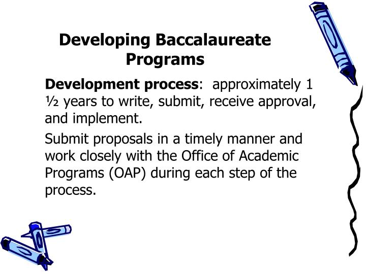 Developing Baccalaureate Programs