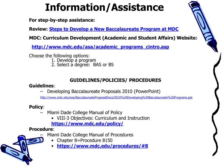 Information/Assistance