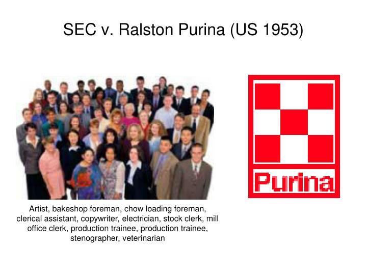 SEC v. Ralston Purina (US 1953)