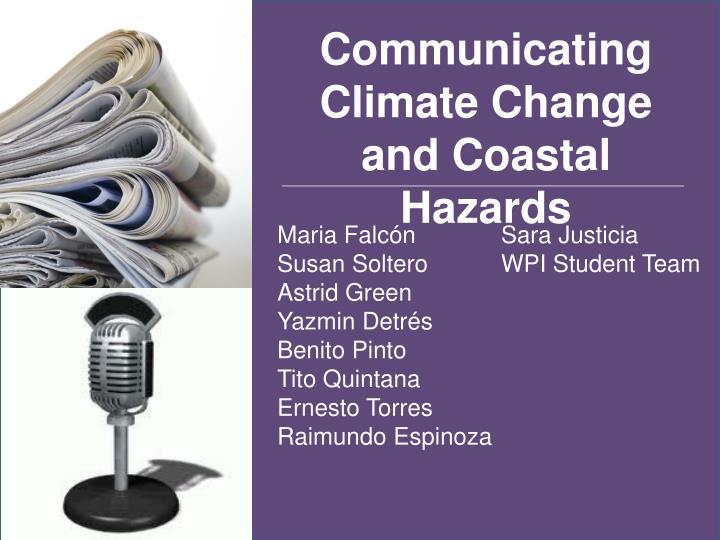 Communicating Climate Change and Coastal Hazards