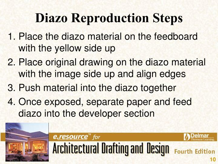Diazo Reproduction Steps