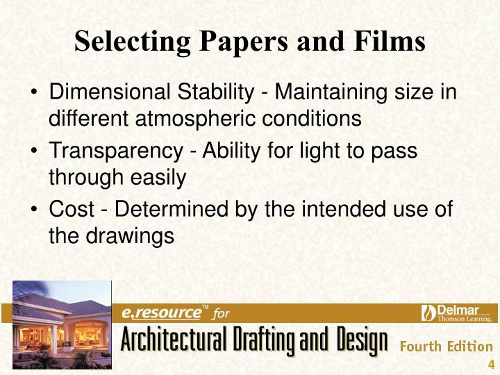Selecting Papers and Films