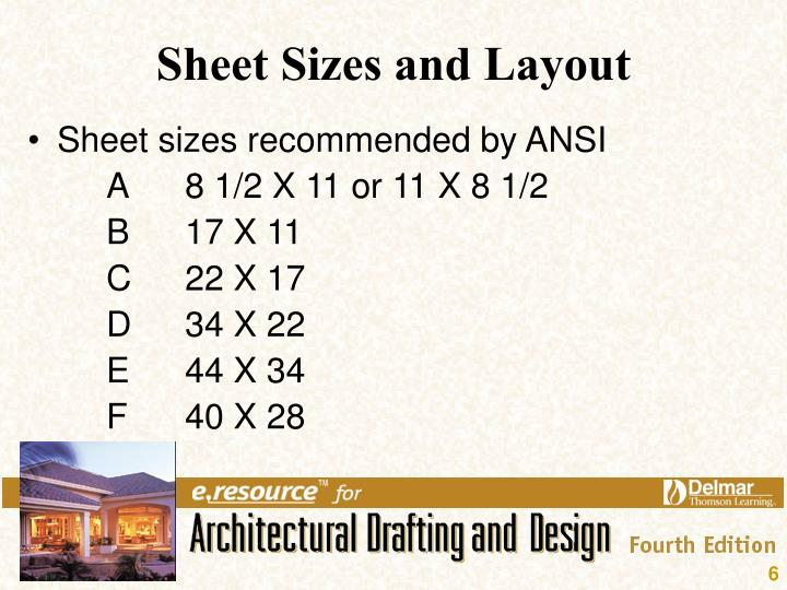 Sheet Sizes and Layout