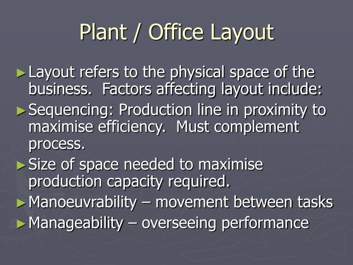 Plant / Office Layout