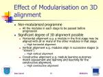 effect of modularisation on 3d alignment