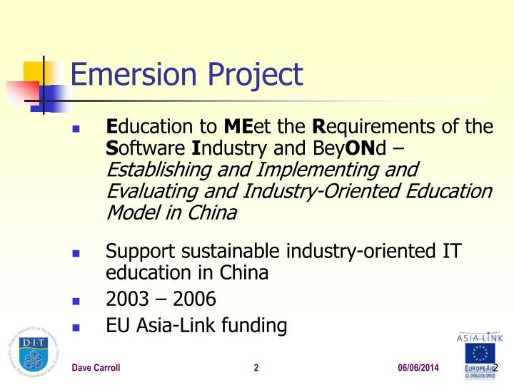 Emersion project