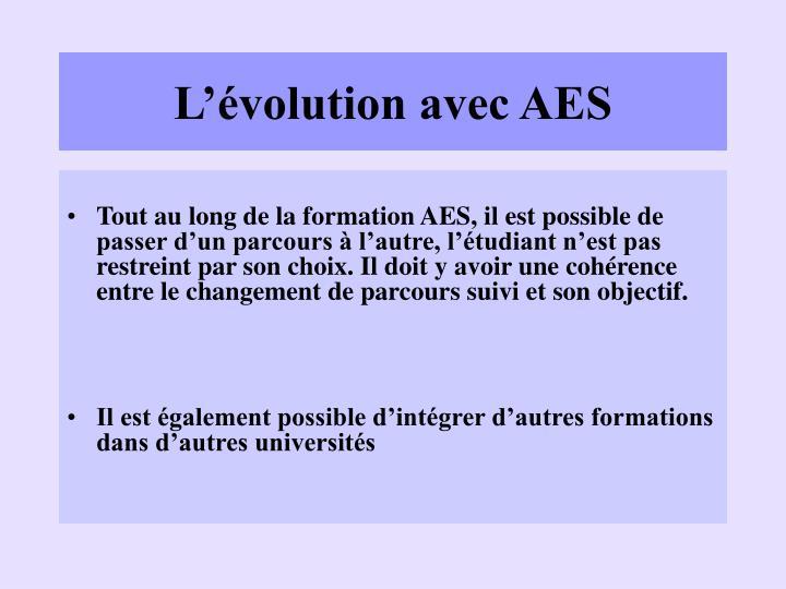 L'évolution avec AES