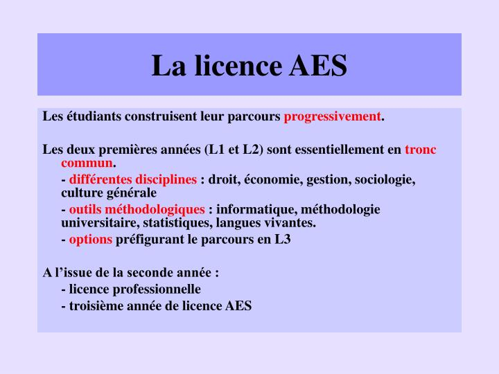 La licence AES