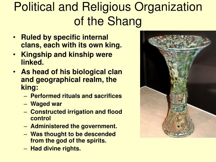 Political and Religious Organization of the Shang