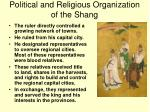 political and religious organization of the shang1