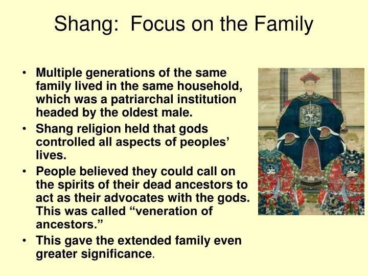 Shang:  Focus on the Family