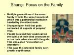 shang focus on the family