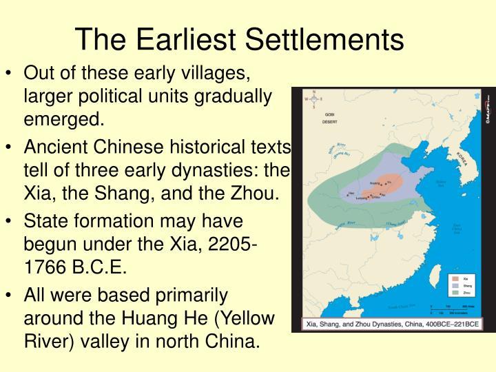 The Earliest Settlements