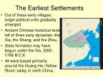 the earliest settlements1