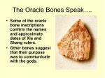the oracle bones speak