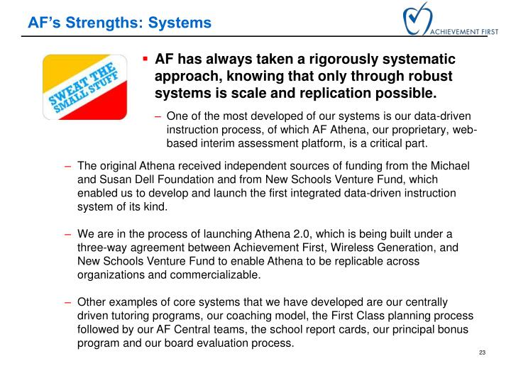 AF's Strengths: Systems