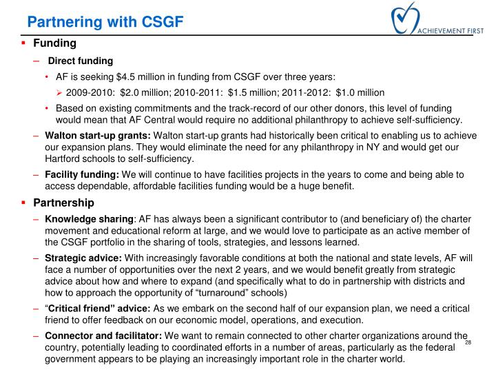 Partnering with CSGF