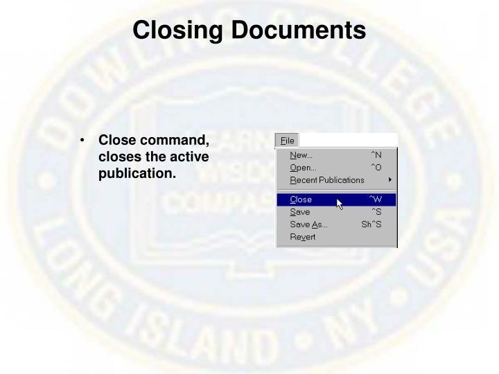 Closing Documents