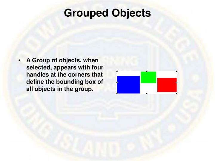 Grouped Objects