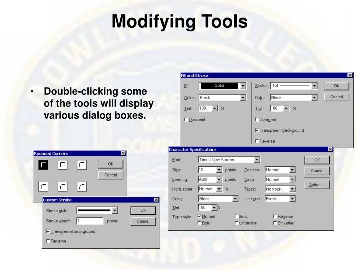 Modifying Tools