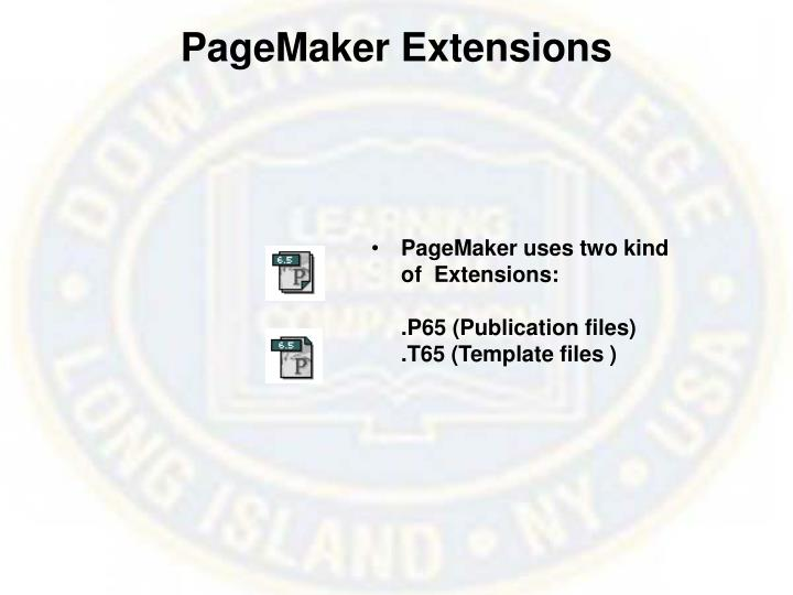 PageMaker Extensions