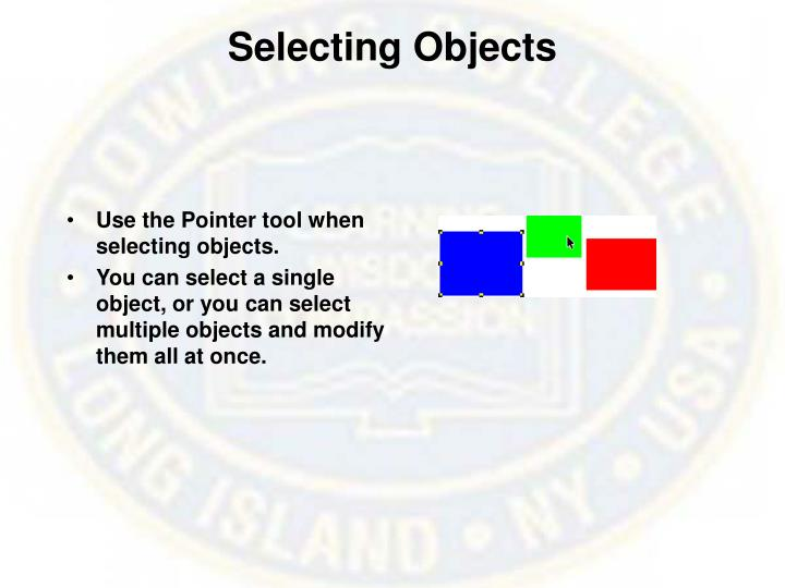 Selecting Objects