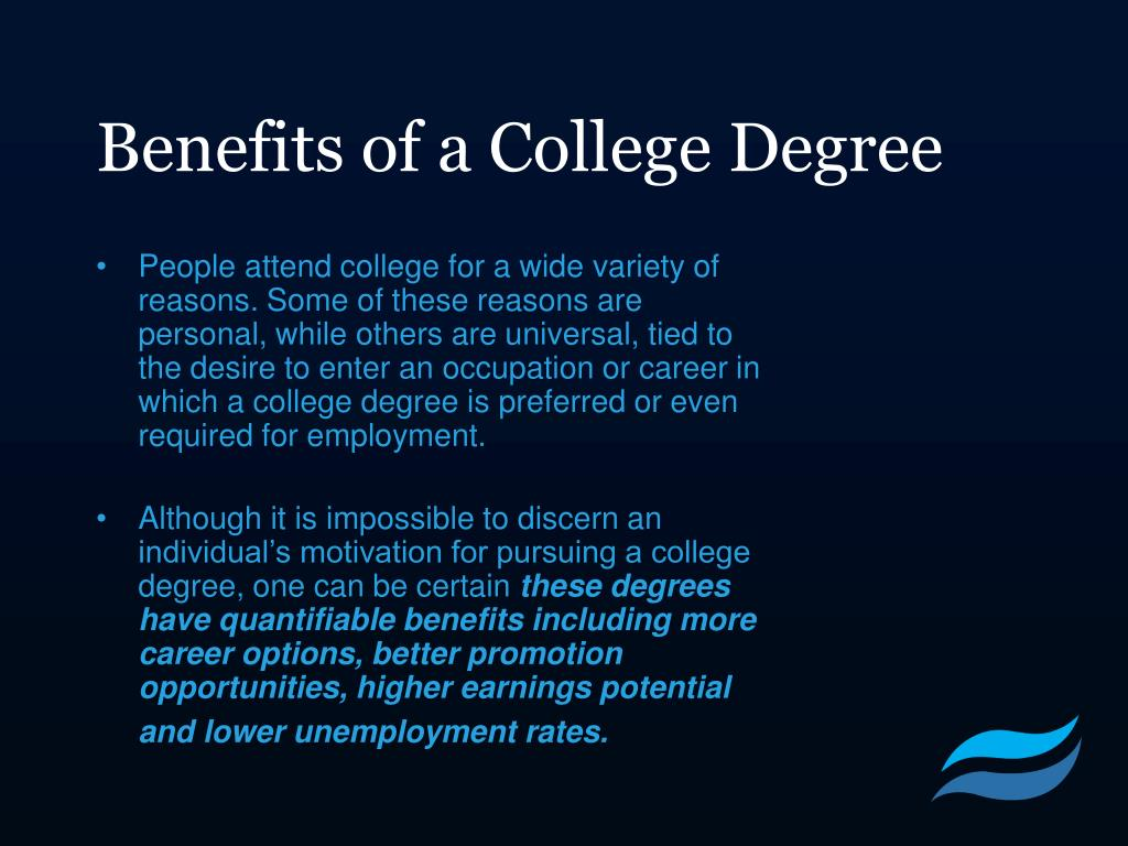 Benefits of a College Degree