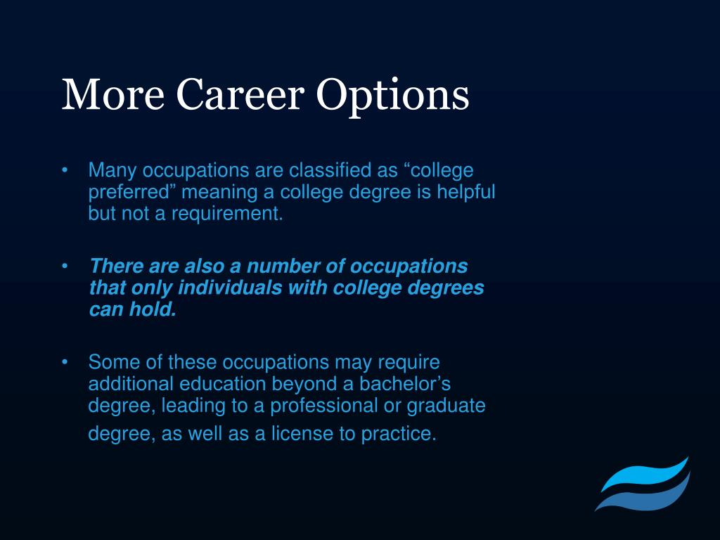 More Career Options
