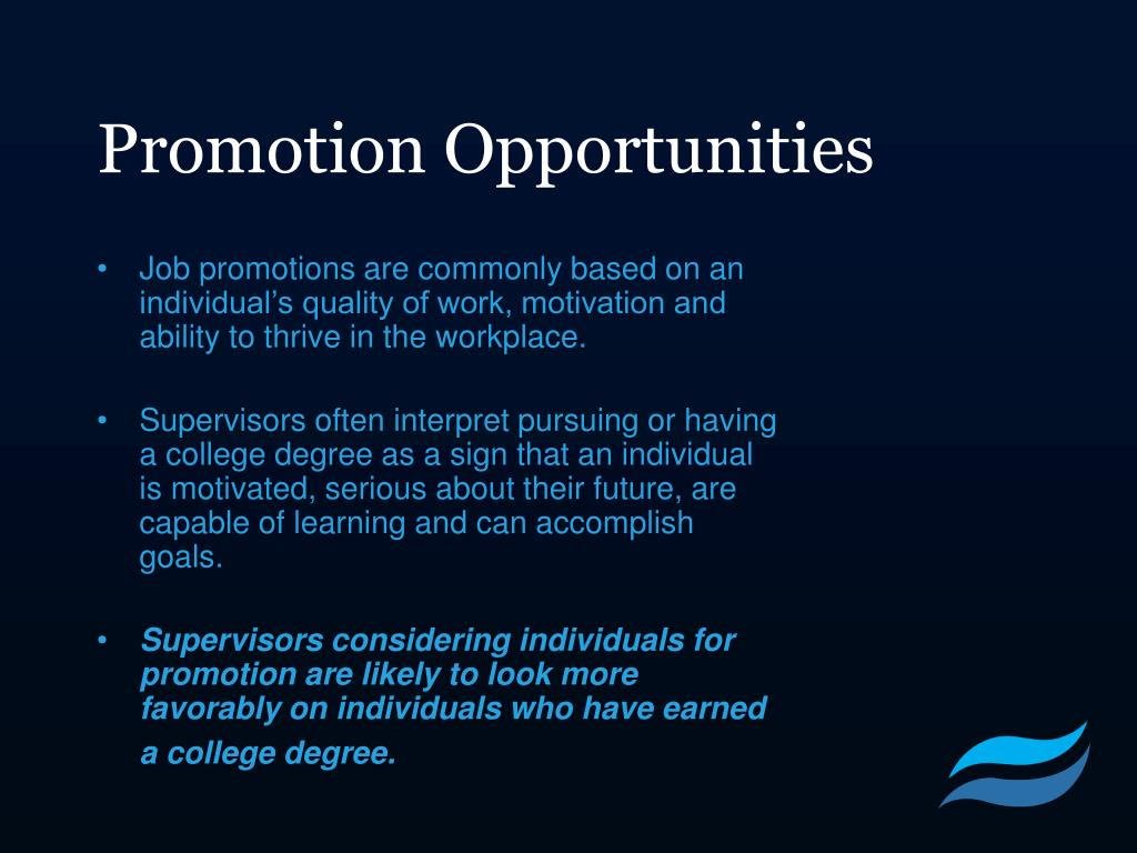 Promotion Opportunities