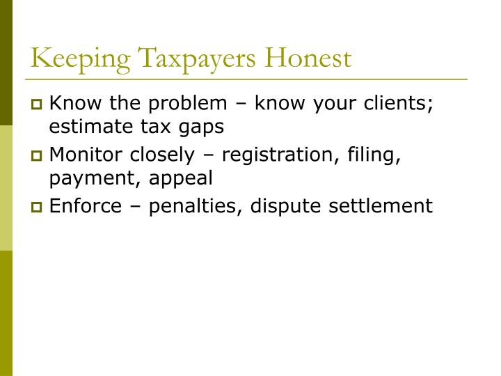 Keeping Taxpayers Honest