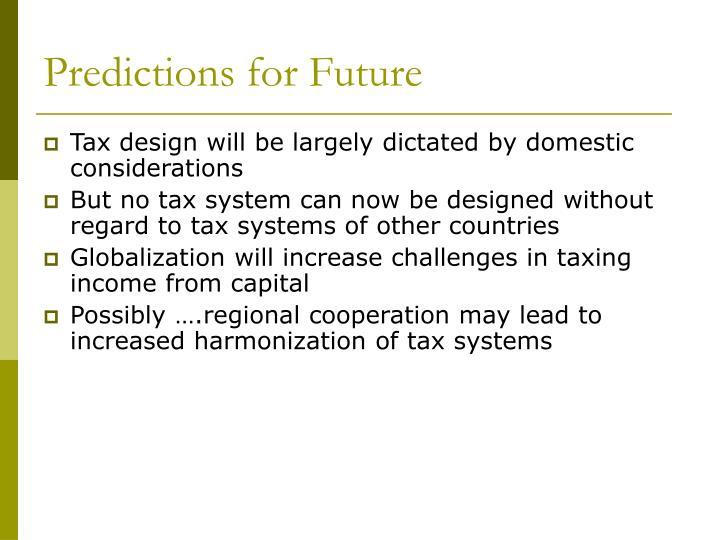Predictions for Future