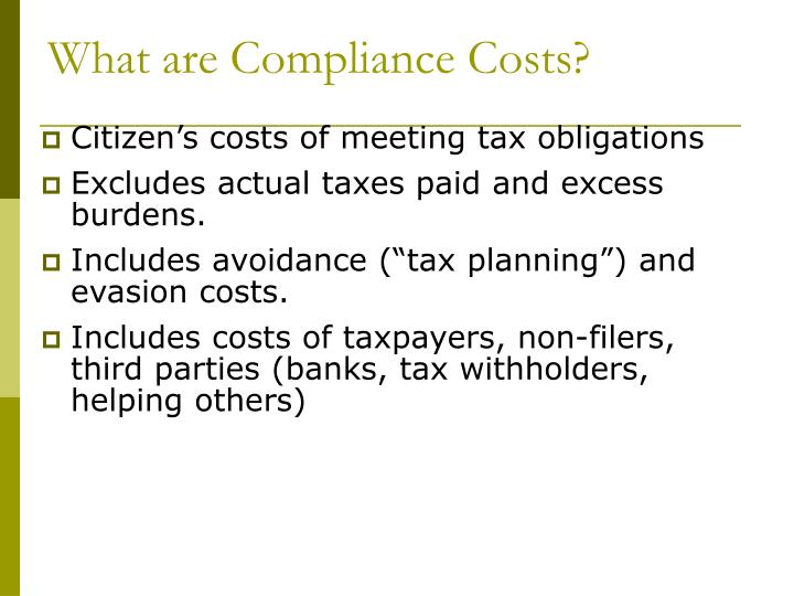 What are Compliance Costs?